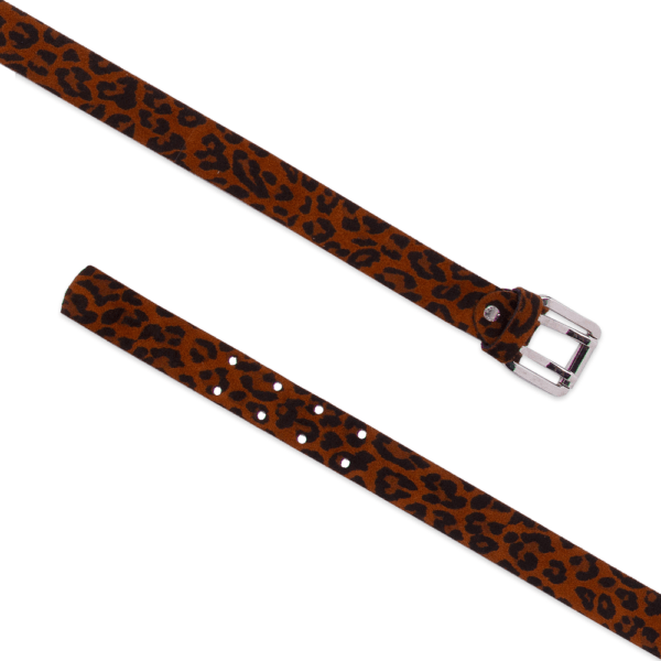 Army belt 0.30 animalier open tobacco