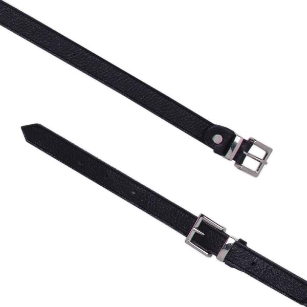 Cintura Double Buckle cod. 0.20 nero aperta