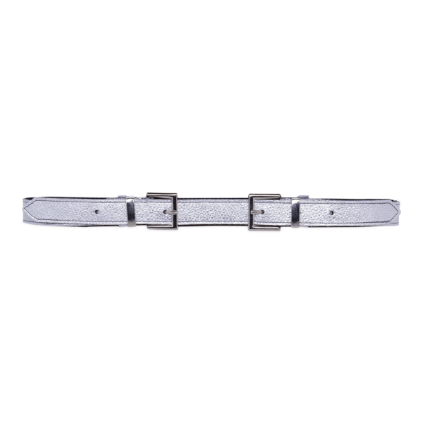 Cintura Double Buckle cod. 0.20 silver chiusa