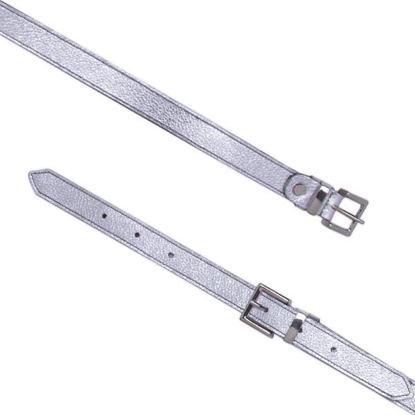 Cintura Double Buckle cod. 0.20 silver aperta
