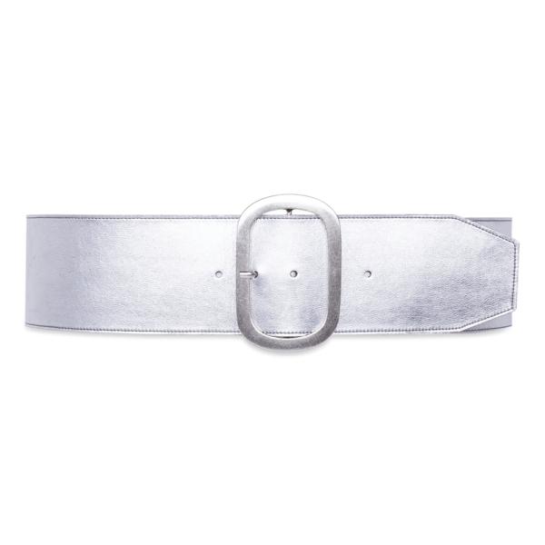 cintura over dettagli geometrici argento cintura chiusa