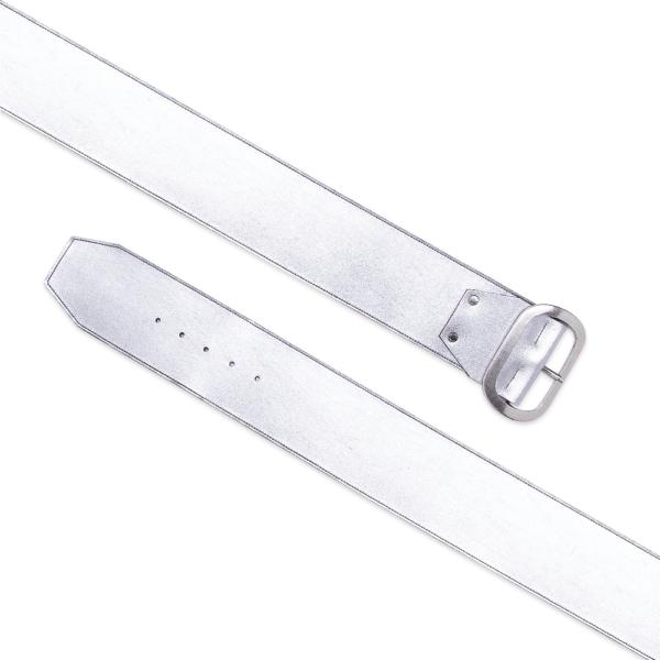 cintura over dettagli geometrici argento cintura aperta