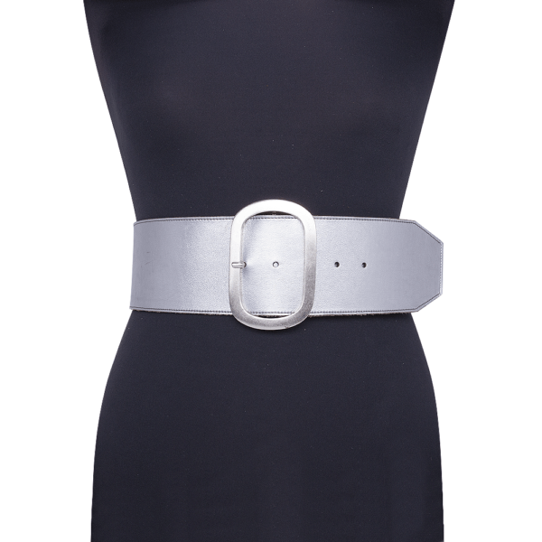 cintura over dettagli geometrici su manichino