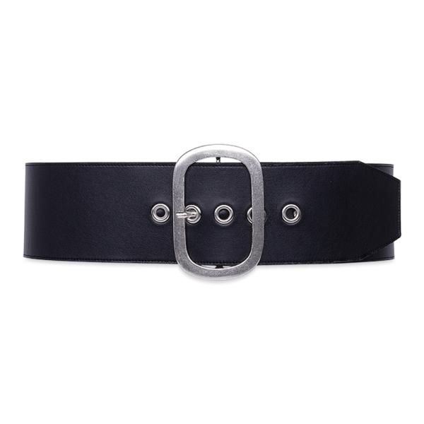 belt over eyelet black color belt closed