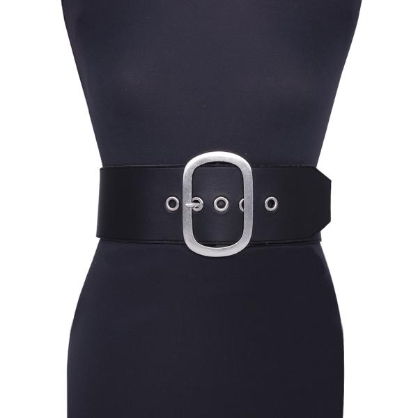 belt over black eyelet on mannequin