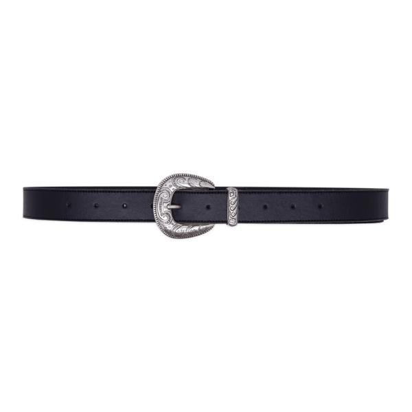 Cintura single west Nera e argento 030 chiusa
