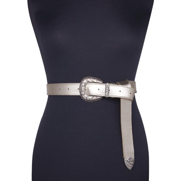 Cintura single west platino 030 su manichino