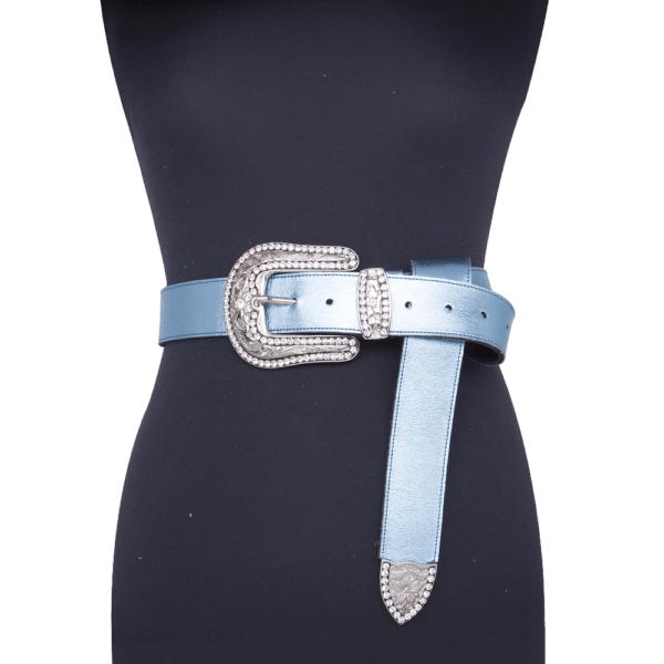 cintura wonder woman jewels acqua 040 su manichino