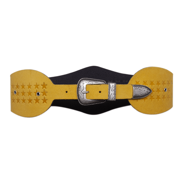 Closed wonder woman yellow belt